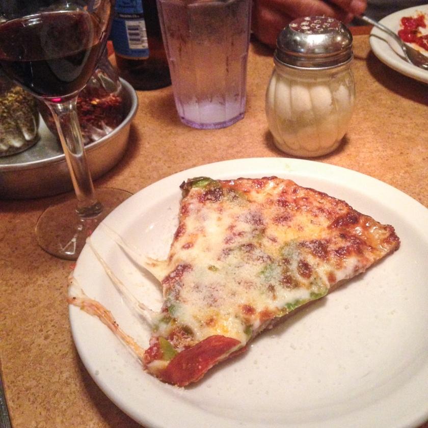 Slice of Zachary's pizza