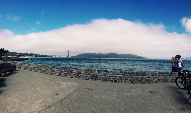 View of the Golden Gate Bridge from my run