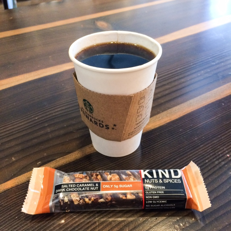 kind bar and coffee at starbucs