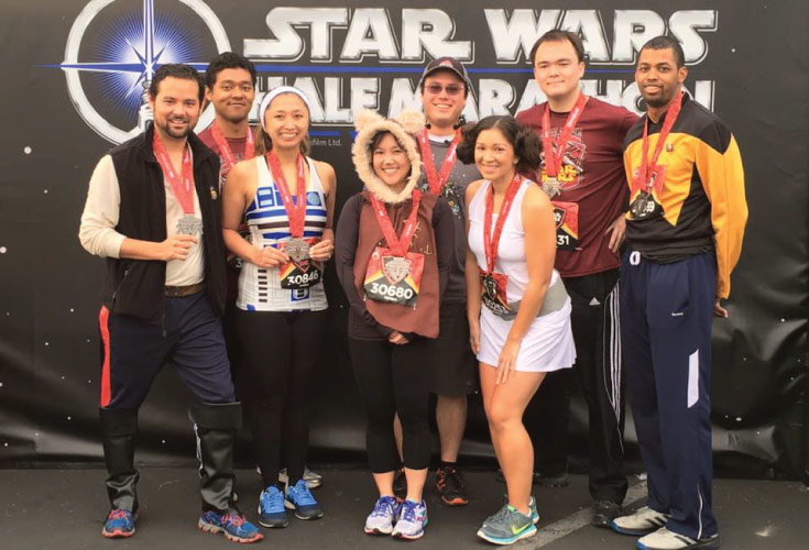 runDisney star wars 10k finishers picture