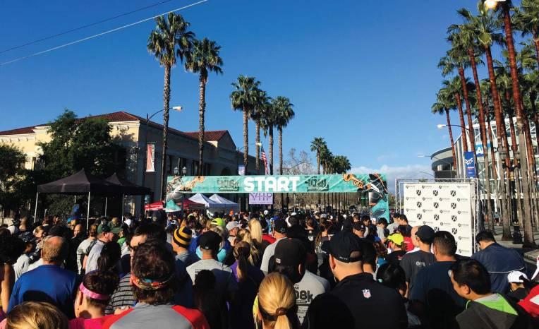 The San Jose 408K starting line in downtown San Jose