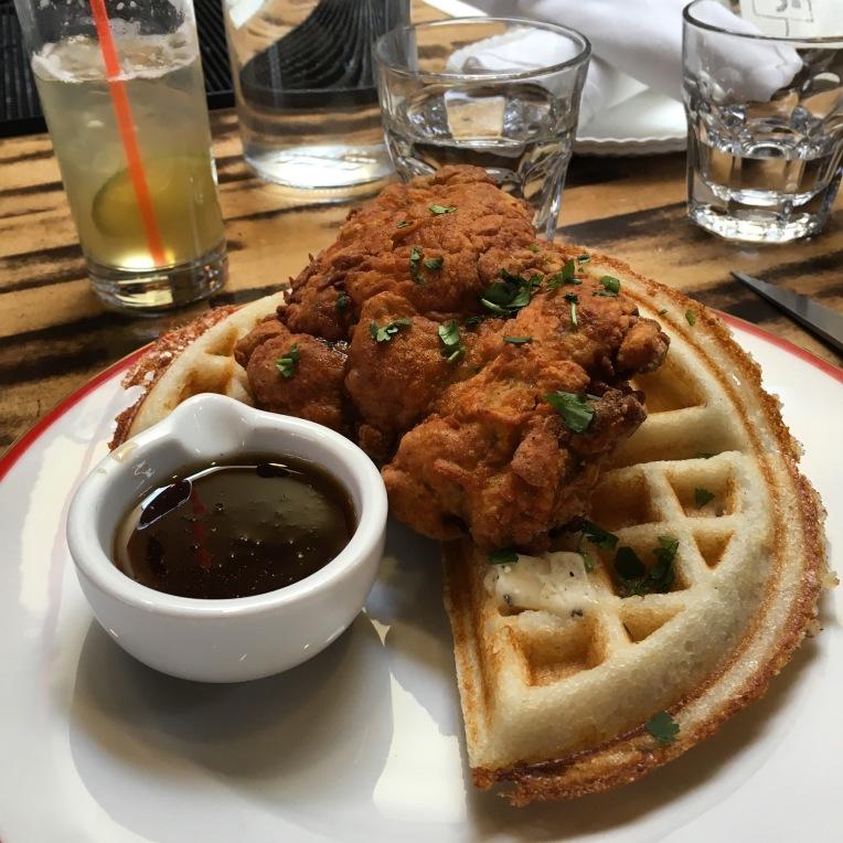 Juhu Beach Club's Gluten-Free Dosa Waffles and Fried Chicken